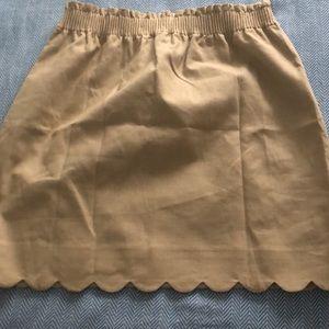 Brand New J.Crew Skirt scalloped trim